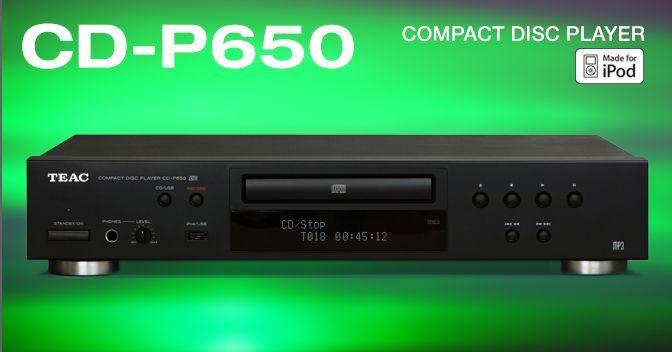 Lettore cd da tavolo riproduce cd cd r rw mp3 dotato di porta usb ipod cdp650 teac cdp 650 p - Lettore mp3 da tavolo ...