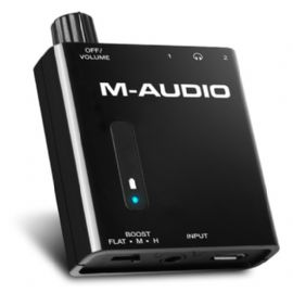 AMPLIFICATORE PREAMPLIFICATORE PER CUFFIE 2 CANALI BASS TRAVELER M-AUDIO