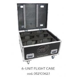 FLIGHTCASE FLY CASES CASE PER 6 MOTORIZZATI TESTA MOBILE NICK NRG 501 860x730x630 mm DTS LIGHTING