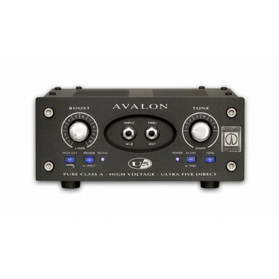DIRECT BOX DI-BOX PREAMPLIFICATORE VALVOLARE STRUMENTALE U 5 BLACK AVALON