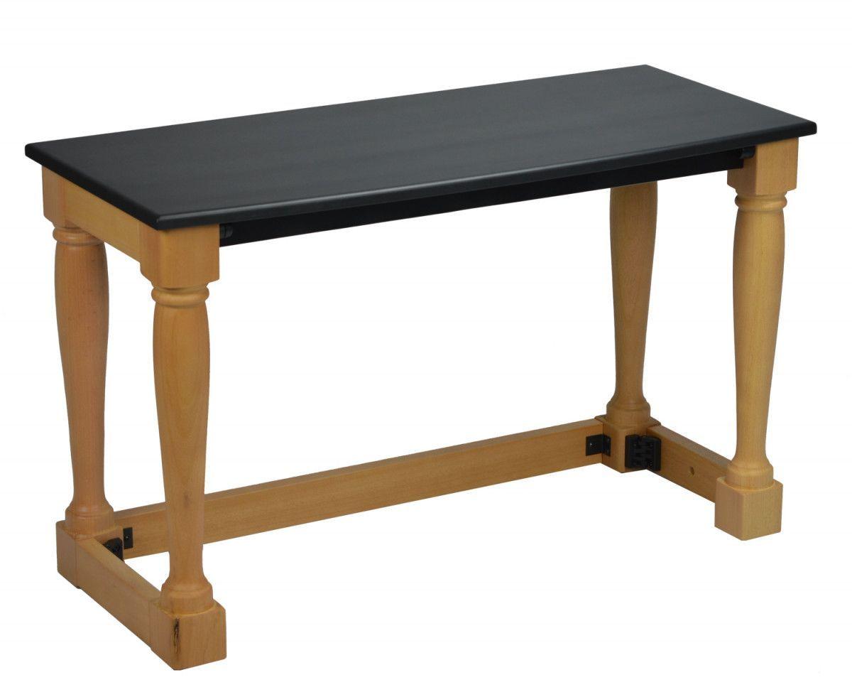 Panca in legno wooden bench legend per organo liturgico portatile