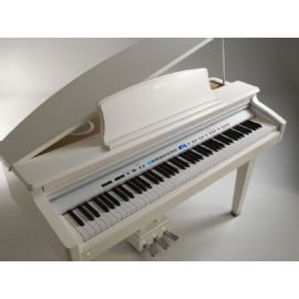 PIANOFORTE DIGITALE A CODA 88 TASTI Grand Hammer Action GYP300 BIANCO VISCOUNT