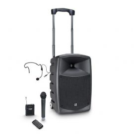 Altoparlante Bluetooth alimentato a batteria con mixer, microfono wireless, bodypack e auricolare LD Systems ROADBUDDY 10 HBH 2