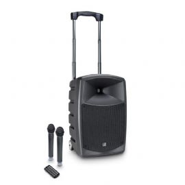 Altoparlante Bluetooth alimentato a batteria con mixer e 2 microfoni wireless LD Systems ROADBUDDY 10 HHD 2 B6