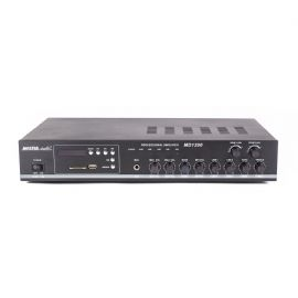 Amplificatore Mixer per PA con lettore MP3 e radio FM 100 Watt Uscite 70V/100V - 4/16 Ohm MD 1200 Master Audio