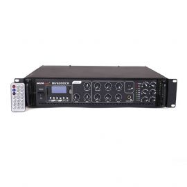 Amplificatore mixer per PA con lettore MP3 e radio FM 180 Watt Uscite 70V/100V - 4/16 Ohm MV 6300 CR BLUETOOTH Master Audio