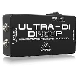 BEHRINGER DI400P ULTRA-DI DI-BOX PASSIVA IN/OUT PARALLELO XLR OUT CON GROUND LIFT