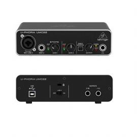 BEHRINGER UMC22 INTERFACCIA AUDIO 2X2 SCHEDA USB 2 IN 2 OUT 24 BIT 48 KHZ PC E MAC PREAMPLIFICATORE MICROFONICO MIDAS