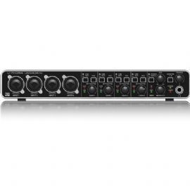 BEHRINGER UMC404-HD U-PHORIA INTERFACCIA AUDIO 4X4 MIDI USB 192 KHZ PREAMPLIFICATORI MIDAS SCHEDA PHANTOM +48V