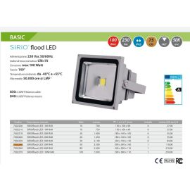 FARO LED DA ESTERNO IP65 SIRIO FLOOD LED 50W 4.000°K Bianco Neutro - Disponibili 28 Pezzi