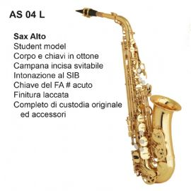 SAX ALTO MIB DAM AS04L FINITURA LACCATA, PADS MADE IN ITALY E CUSTODIA IN ABS