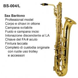 SAX BARITONO DAM BS004L FINITURA LACCATA, PADS MADE IN ITALY E CUSTODIA IN ABS