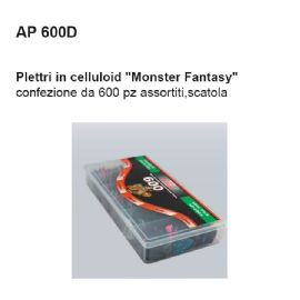 PLETTRI DAM AP600D IN CELLULOIDE ''MONSTER FANTASY'' Conf. 600 pz ASSORTITI, SCATOLA ABS