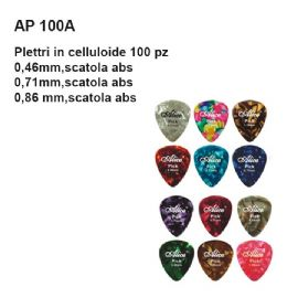 PLETTRI DAM AP100A086 IN CELLULOIDE 100 pz 0,86 mm, SCATOLA IN ABS