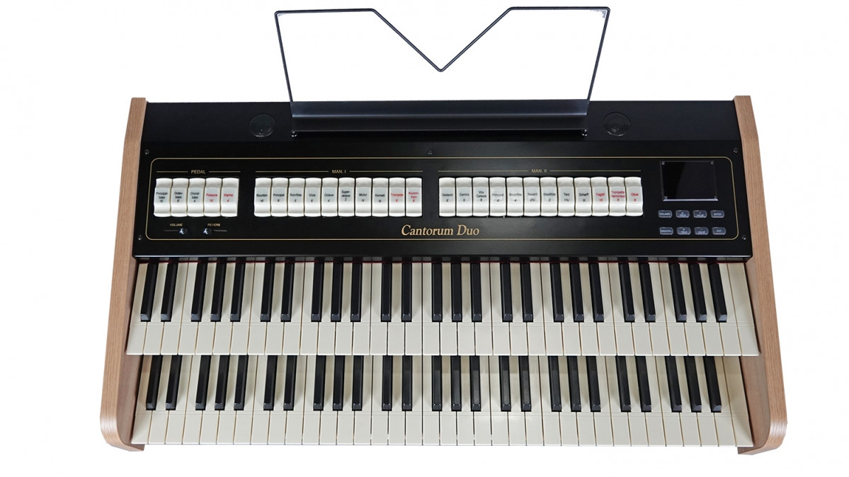 Organo liturgico portatile tastiera tasti manuali voci